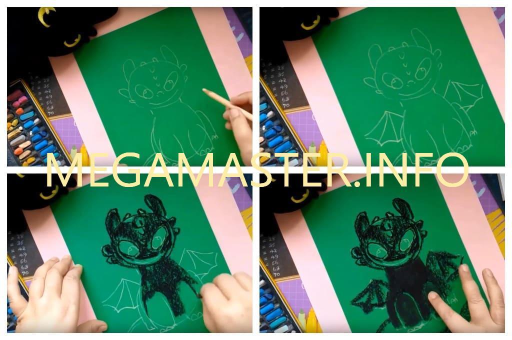 Рисуем мелками с детьми (Шаг 2)
