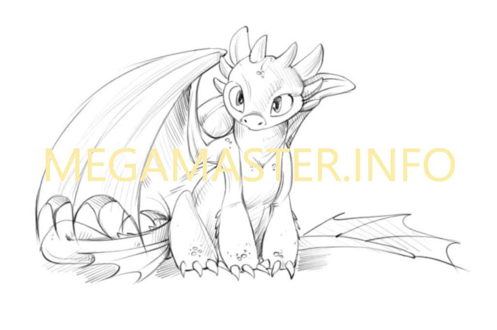 Ночная фурия дракон картинки для срисовки