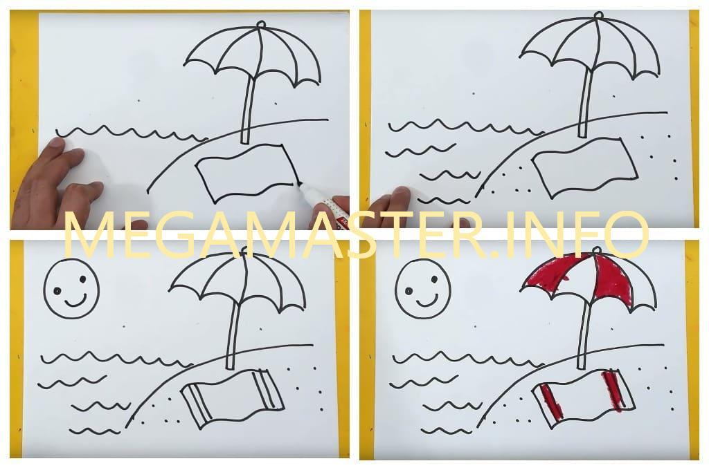 Рисунок на тему лето моей мечты (Шаг 2)