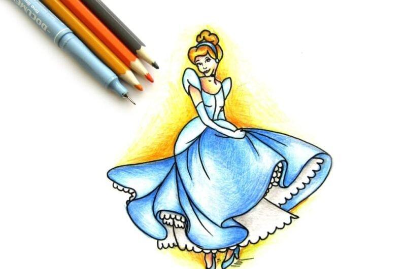 Как нарисовать Золушку карандашом поэтапно легко