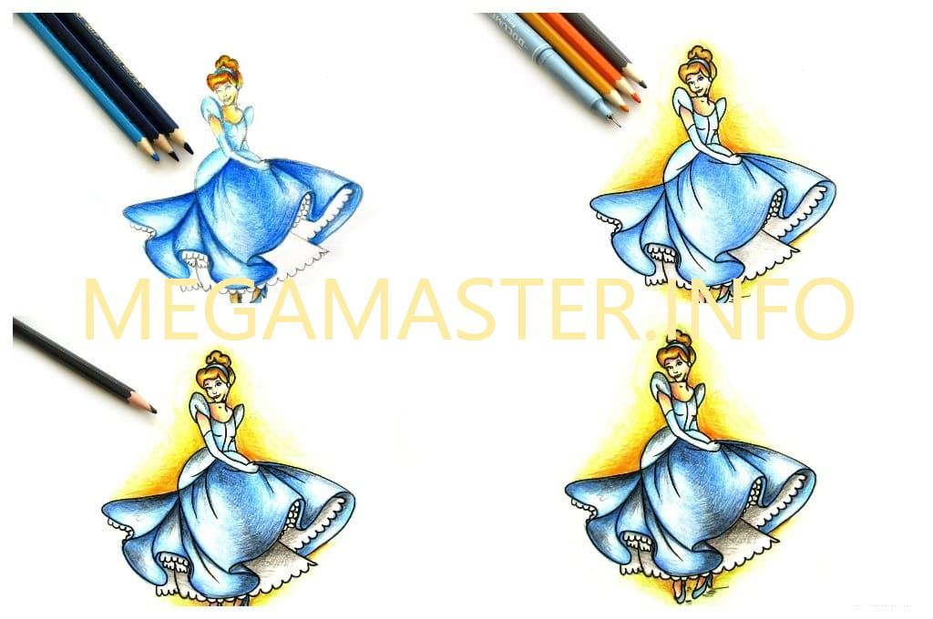 Красочный рисунок принцессы (Шаг 3)