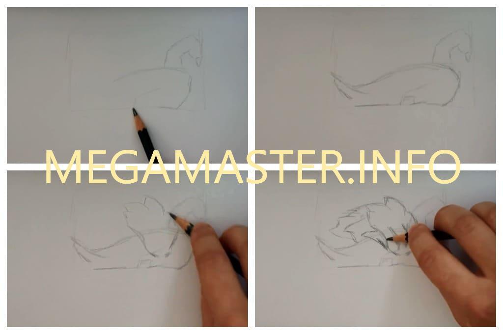 Необычный рисунок простым карандашом (Шаг 1)