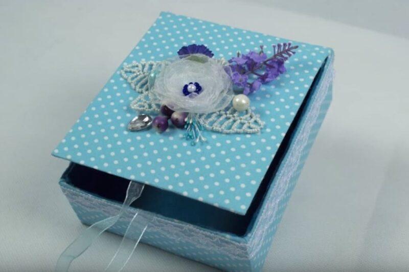 Как сделать шкатулку своими руками из картона и бумаги