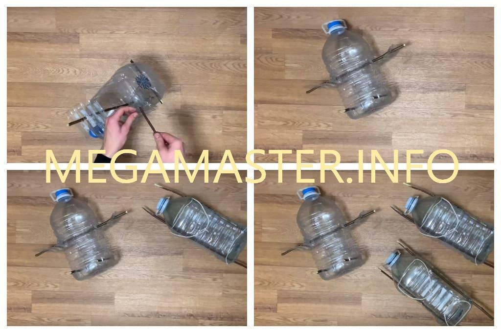 Кормушка из пластиковой бутылки. Второй Вариант (Шаг 2)