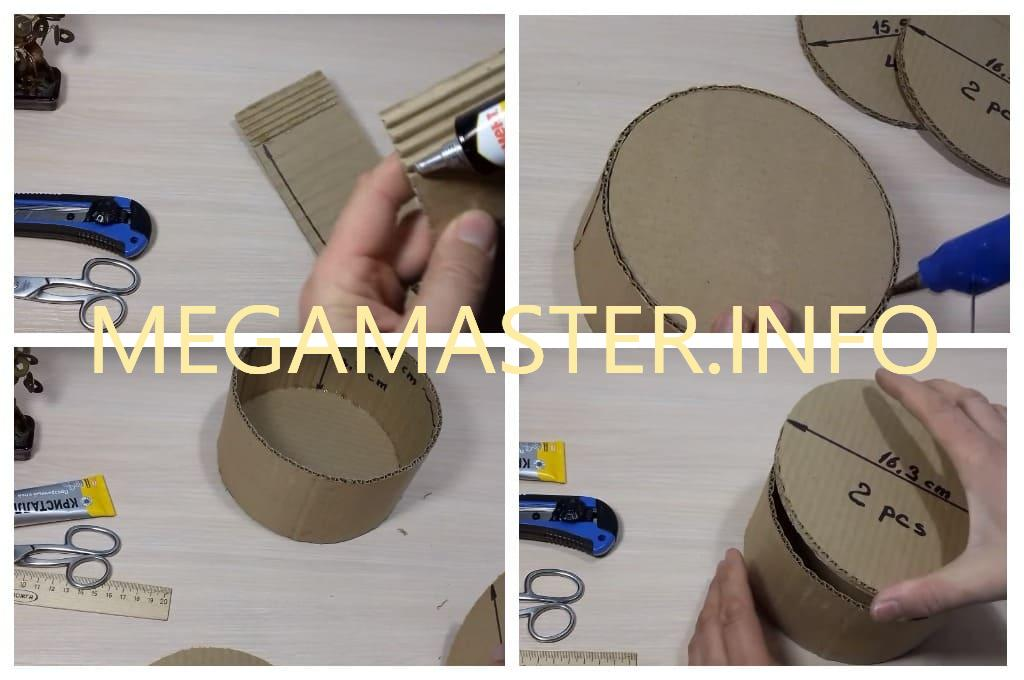 Круглая шкатулка из картона (Шаг 2)