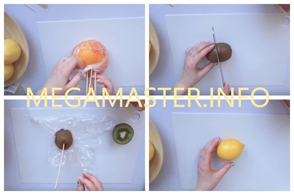 Букет из фруктов (Шаг 2)