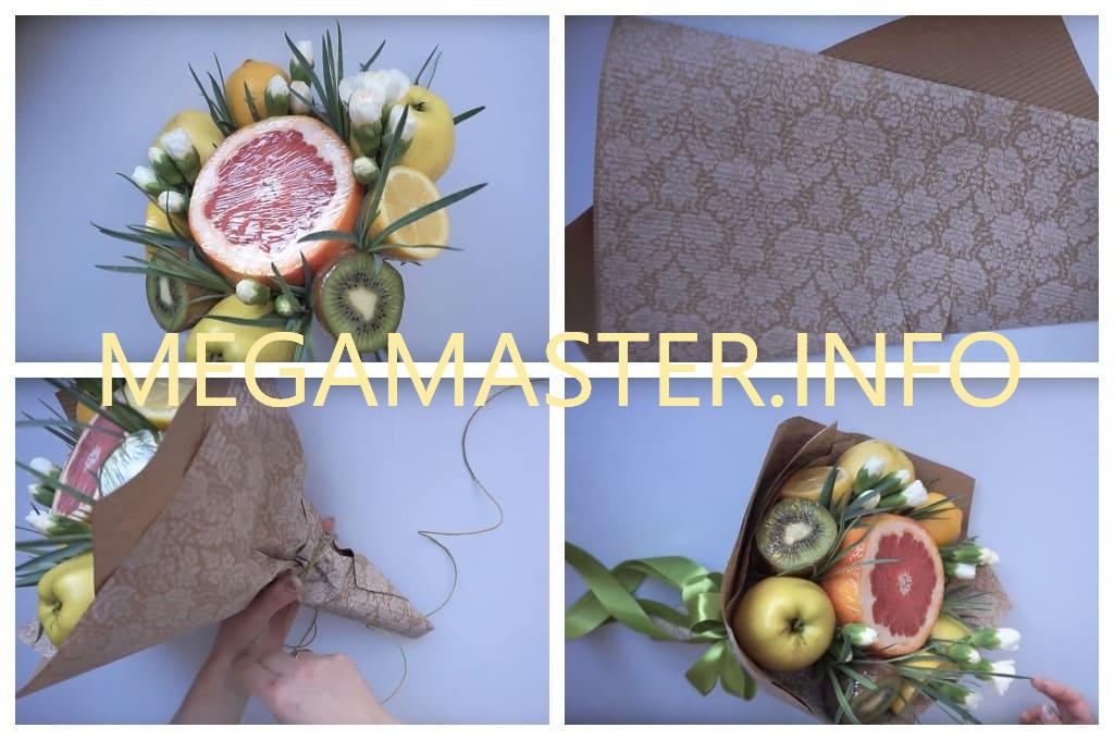 Букет из фруктов (Шаг 5)