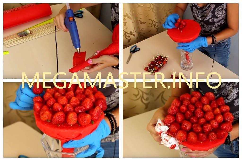 Букет из ягод и конфет (Шаг 2)
