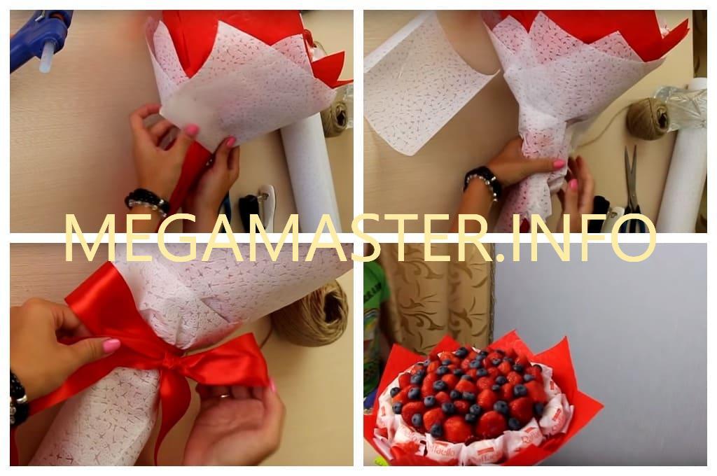 Букет из ягод и конфет (Шаг 4)