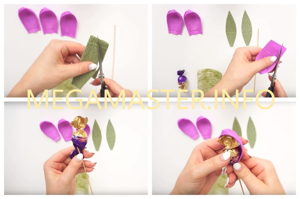 Букет из конфет своими руками для начинающих (Шаг 2)