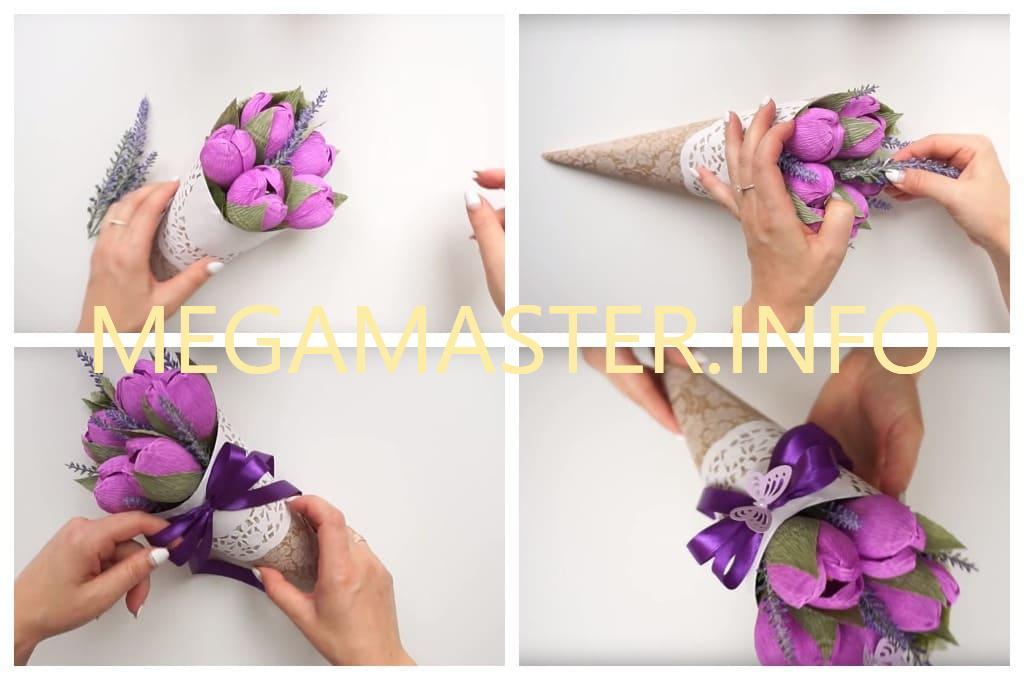 Букет из конфет своими руками для начинающих (Шаг 5)