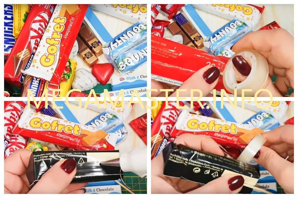 Букет из шоколадок своими руками (Шаг 1)