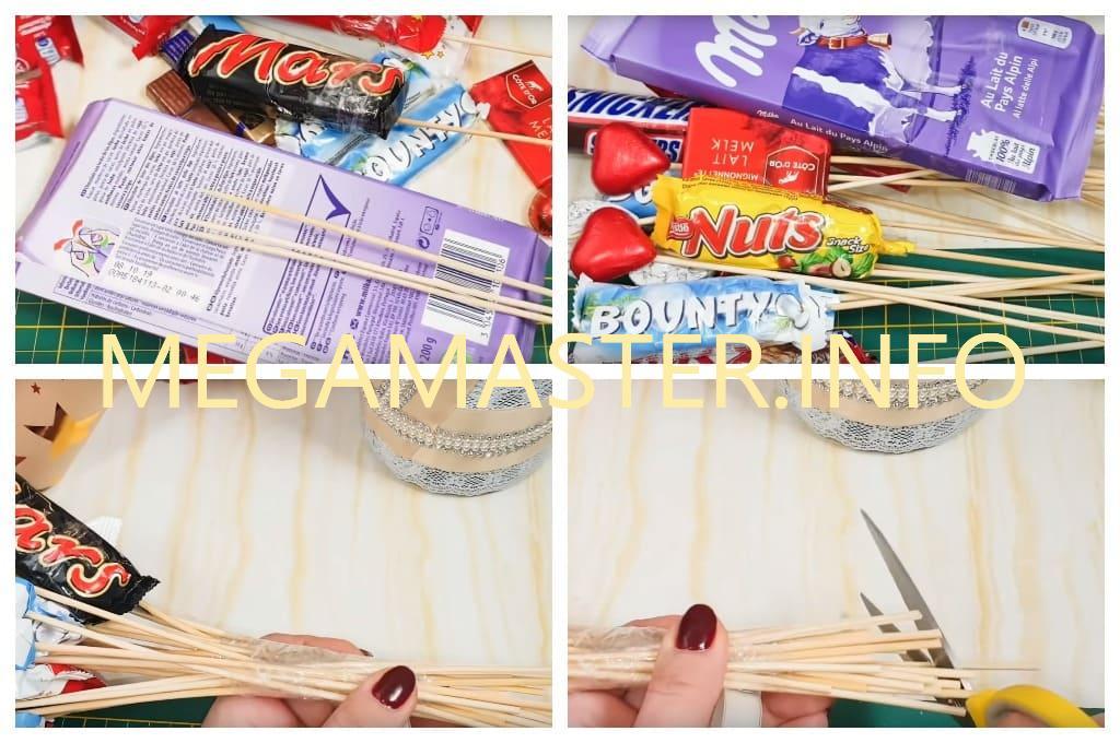 Букет из шоколадок своими руками (Шаг 2)