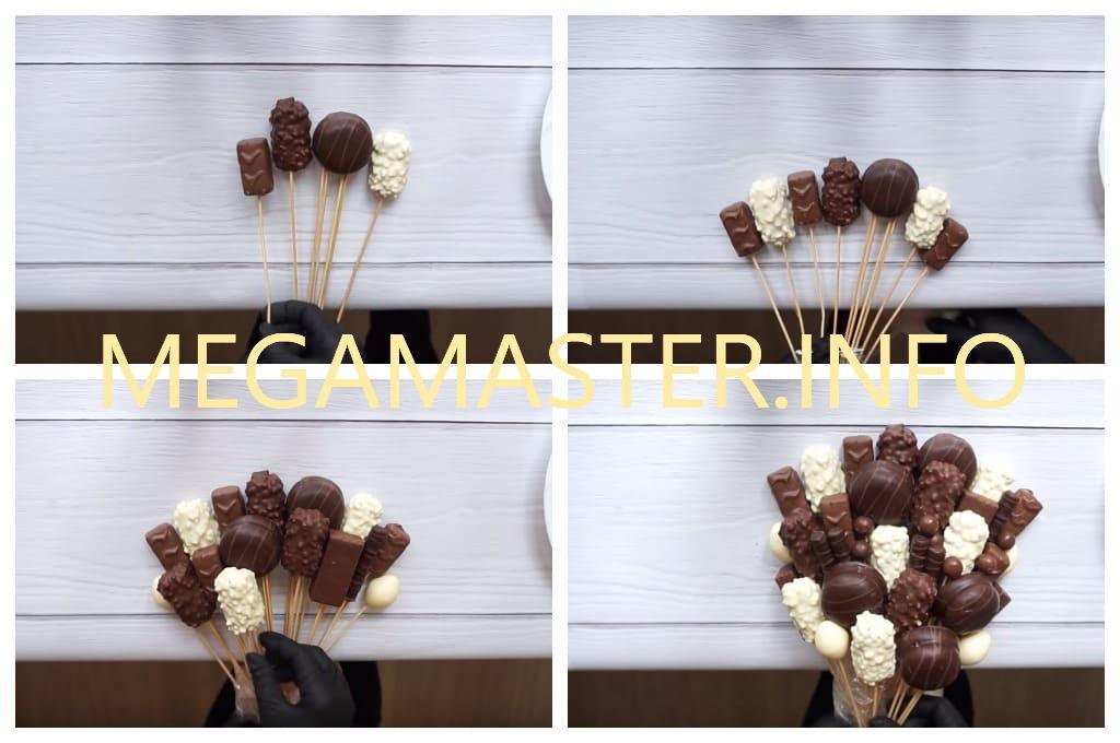 Как сделать букет из шоколадных сладостей (Шаг 2)