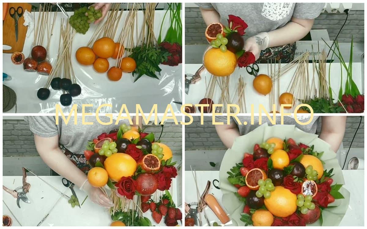 простой букет из фруктов