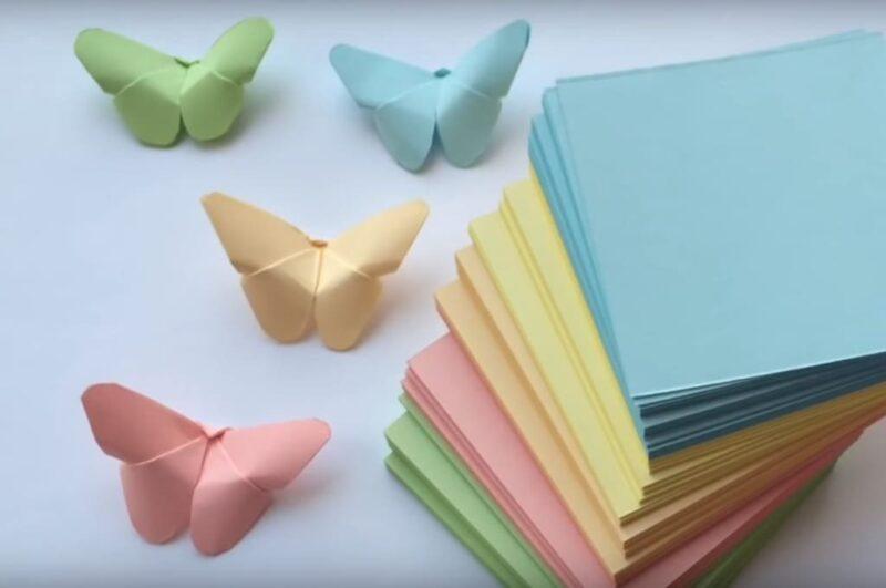 Как легко сделать бабочку оригами из бумаги пошаговая инструкция