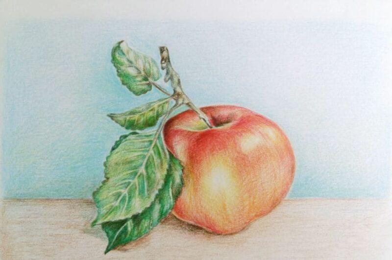 Как нарисовать яблоко карандашом поэтапно легко