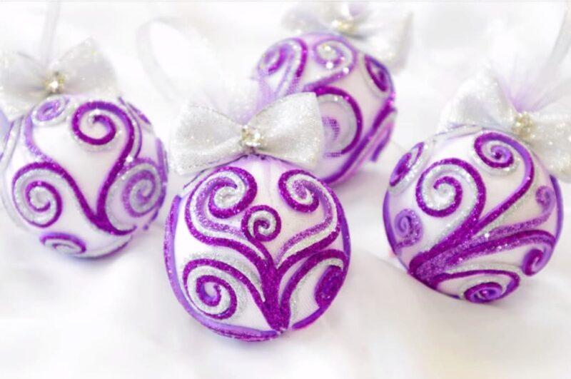Как сделать новогодние шары красиво своими руками