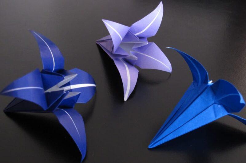 Пошаговая схема как сделать оригами цветок из бумаги своими руками