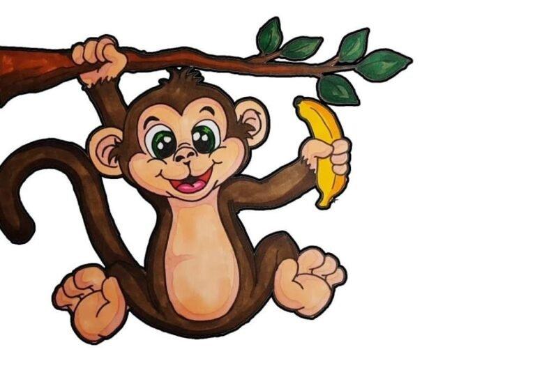 Как легко нарисовать обезьяну карандашом поэтапно