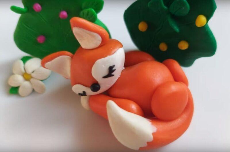 Как слепить лису из пластилина поэтапно для детей