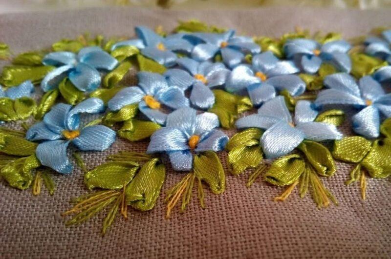 Вышивка лентами для начинающих пошагово с фото