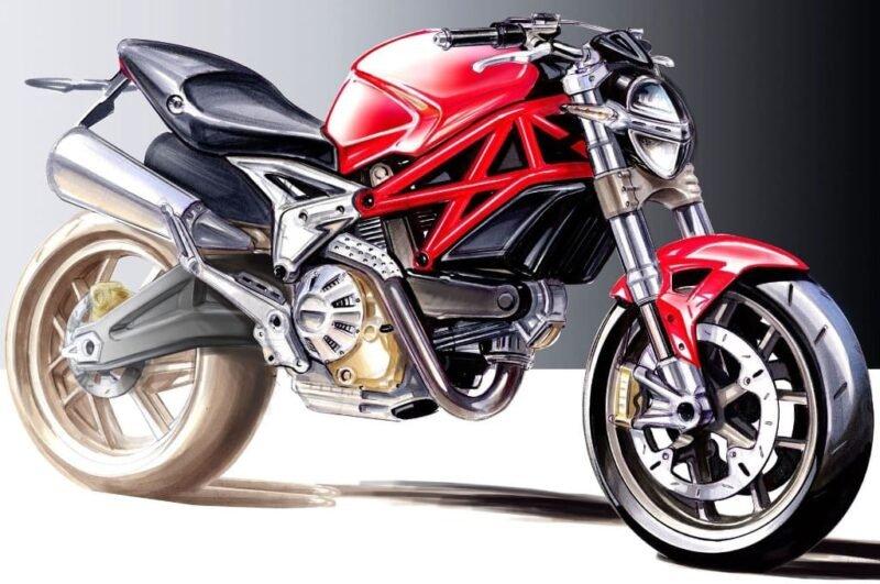 Как нарисовать мотоцикл ребёнку