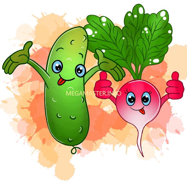 Мастер-класс по рисованию мультяшных овощей