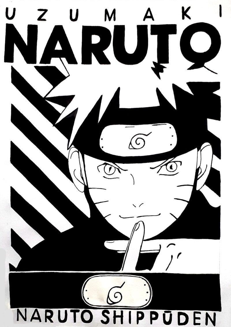 Как нарисовать рисунок Аниме в плакатном стиле